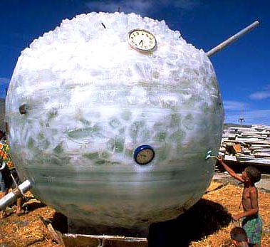 Burning Man ice sculpture