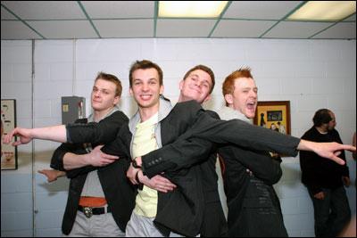 Ruslan, Alexei, Semyon, and Paul strike a pose