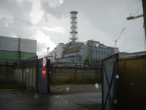 The destroyed Chernobyl nuclear power plant
