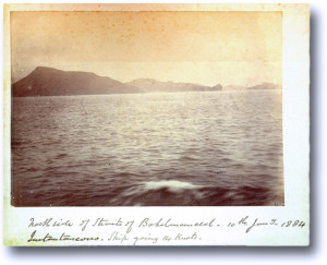 Dated photo of the sea
