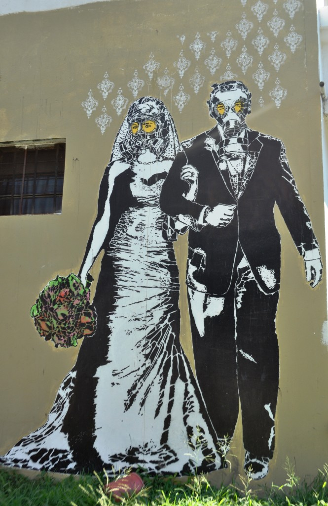 In the Buenos Aires neighborhood of La Boca, I spotted this mural by the graffiti artist Stencil Land. It perfectly captured my mixed feelings about marriage.