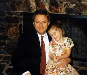 photo of Shannon as a child with her father