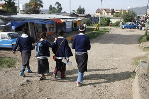 Rahel & friends path to school