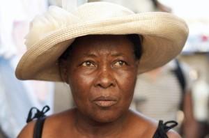 Madam Bwa, a traditional birth attendant in Shada, Haiti.