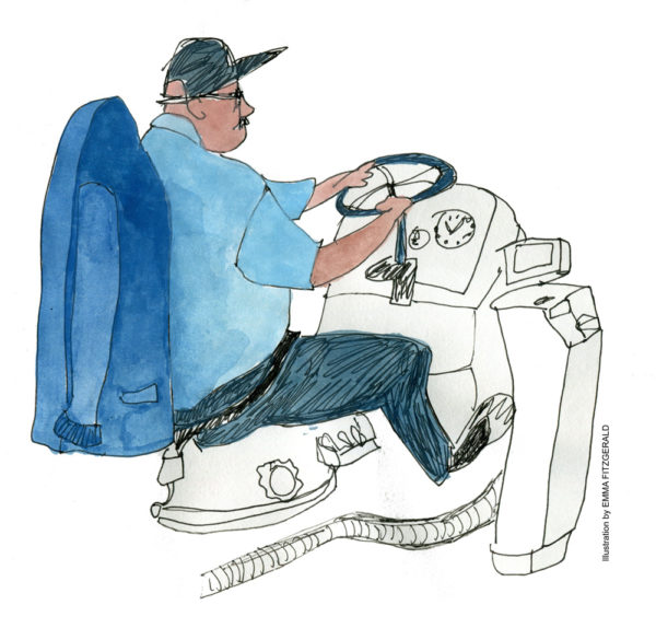 Bus driver steering